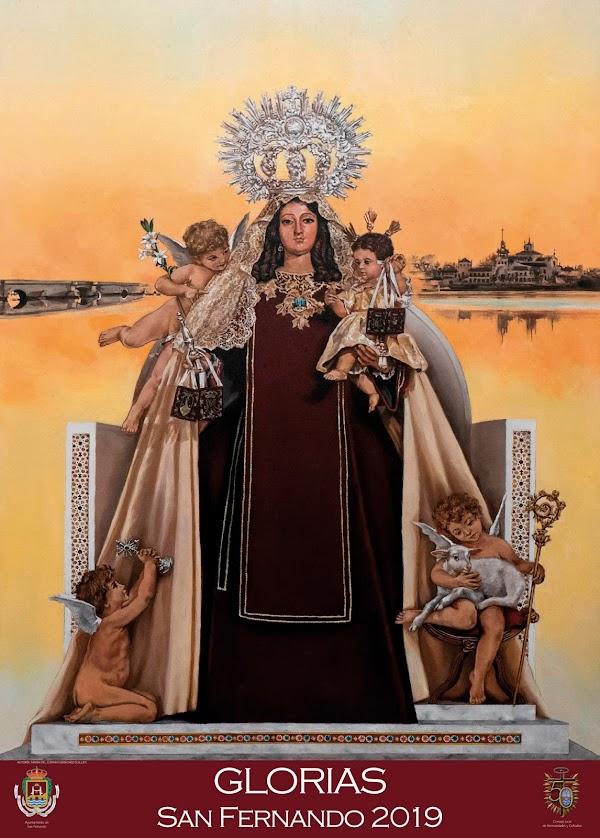 La Virgen del Carmen protagoniza el cartel de las Glorias 2019 de San Fernando