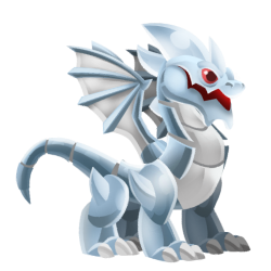 Appearance of Chrome Dragon when teenager