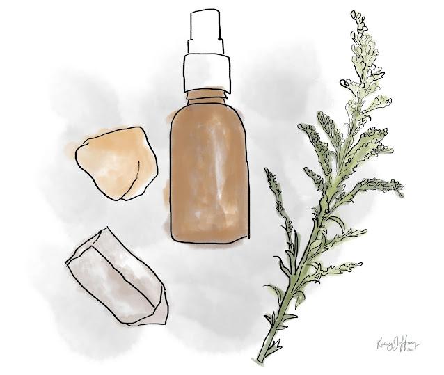 essential oil gemstone illustration