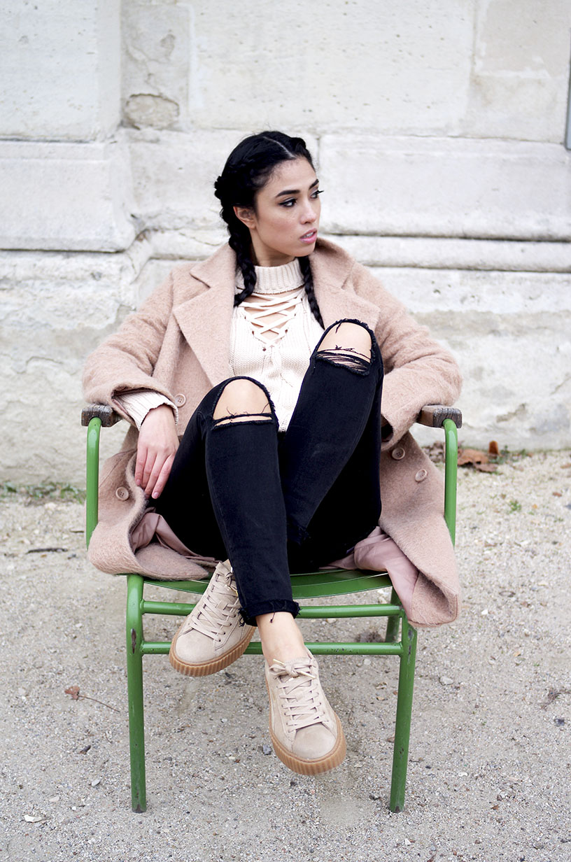 Elizabeth l Black camel outfit l blog mode Missguided Asos Zara l THEDEETSONE l http://thedeetsone.blogspot.fr