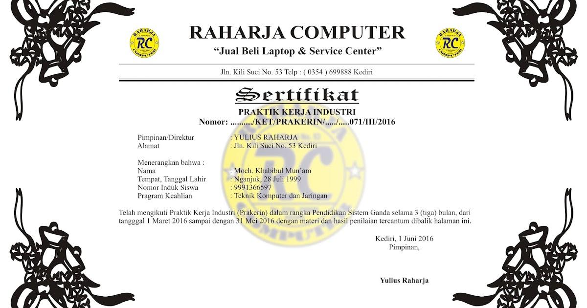 Contoh Sertifikat Psg Siap Download