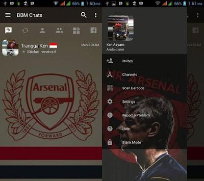 BBM MOD Arsenal v3.2.0.6 Apk (BBM Arsenal New Style) Update Terbaru 2016 Gratis