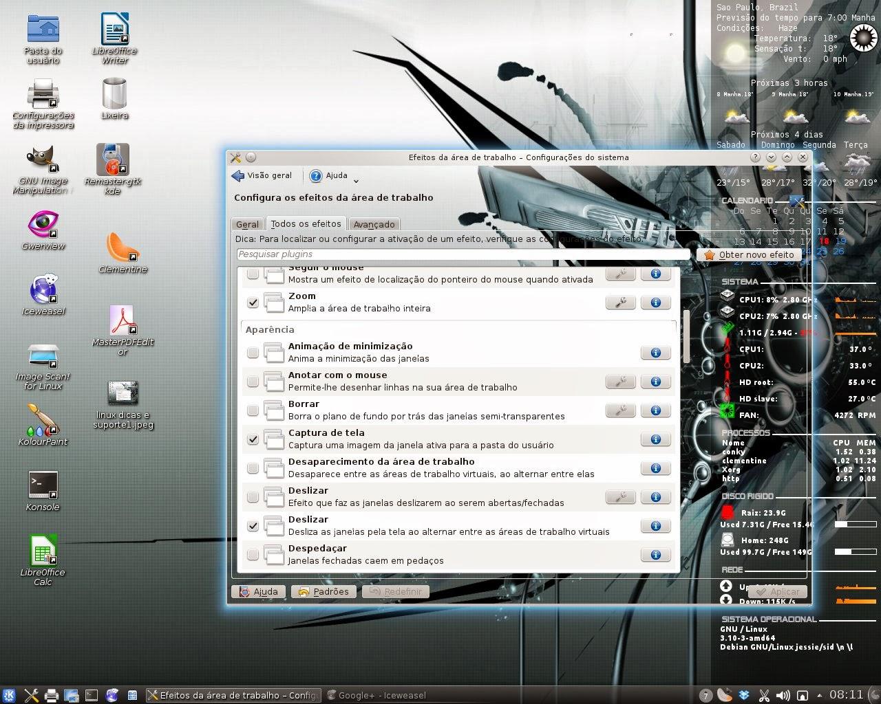 #446987 Linux dicas e suporte: Janelas transparentes no KDE Debian Ubuntu e  452 Janelas Deslizantes Redes