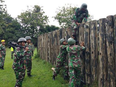 Latihan Halang Rintang, Warnai Minggu Militer Prajurit Korem 051/Wkt