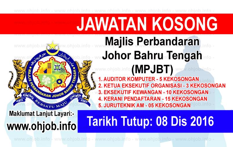 Jawatan Kerja Kosong Majlis Perbandaran Johor Bahru Tengah (MPJBT) logo www.ohjob.info disember 2016
