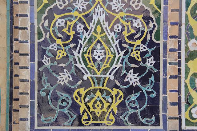 Ouzbékistan, Samarcande, Registan, médersa Cher-Dor, céramique, © L. Gigout, 2012