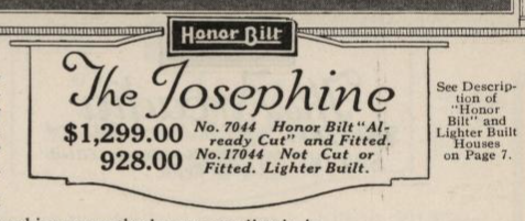 Sears Josephine label in catalog