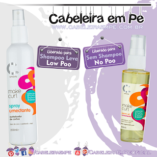 Sérum (No Poo) e Spray Umectante (Low Poo) Make Curl - Amávia