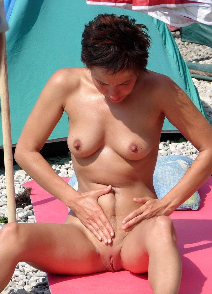 shaved girls touching pussy