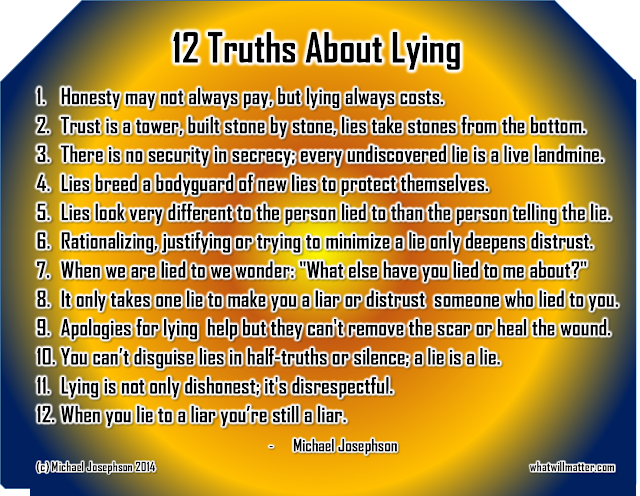 12 Truths About Lying