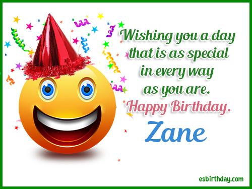 Zane Happy birthday