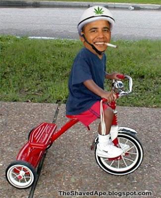 Hình ảnh chế hài hước của Obama - Cảm xúc vui, obama dap xe dap