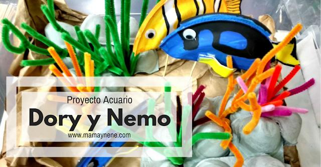 ACUARIO-DORY-NEMO-DIY-MAMAYNENE-CRAFT-KIDS-RECICLAR-MANUALIDADES