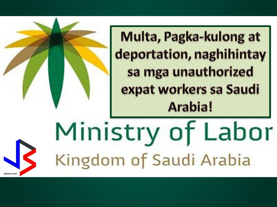 If you are planning to work in Saudi Arabia, make sure your recruitment agency is legitimate and licensed from the Philippines Overseas Employment Administration (POEA) so that you will not end up in the hands of an illegal recruiter that may send you in the Kingdom as an authorized worker.  Same if you are working in Saudi, make sure you are not working on your account or without a proper sponsor. Because at the moment, severe penalties and hefty fines in awaiting for unauthorized foreign workers or those expatriate working on their account.  According to local media quoting the General Directorate for Passport, unapproved foreign workers will face up to six months in jail, will be fined of SR50,000 and will be deported if caught working illegally in the Kingdom.