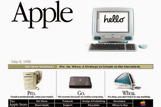 apple website 1998