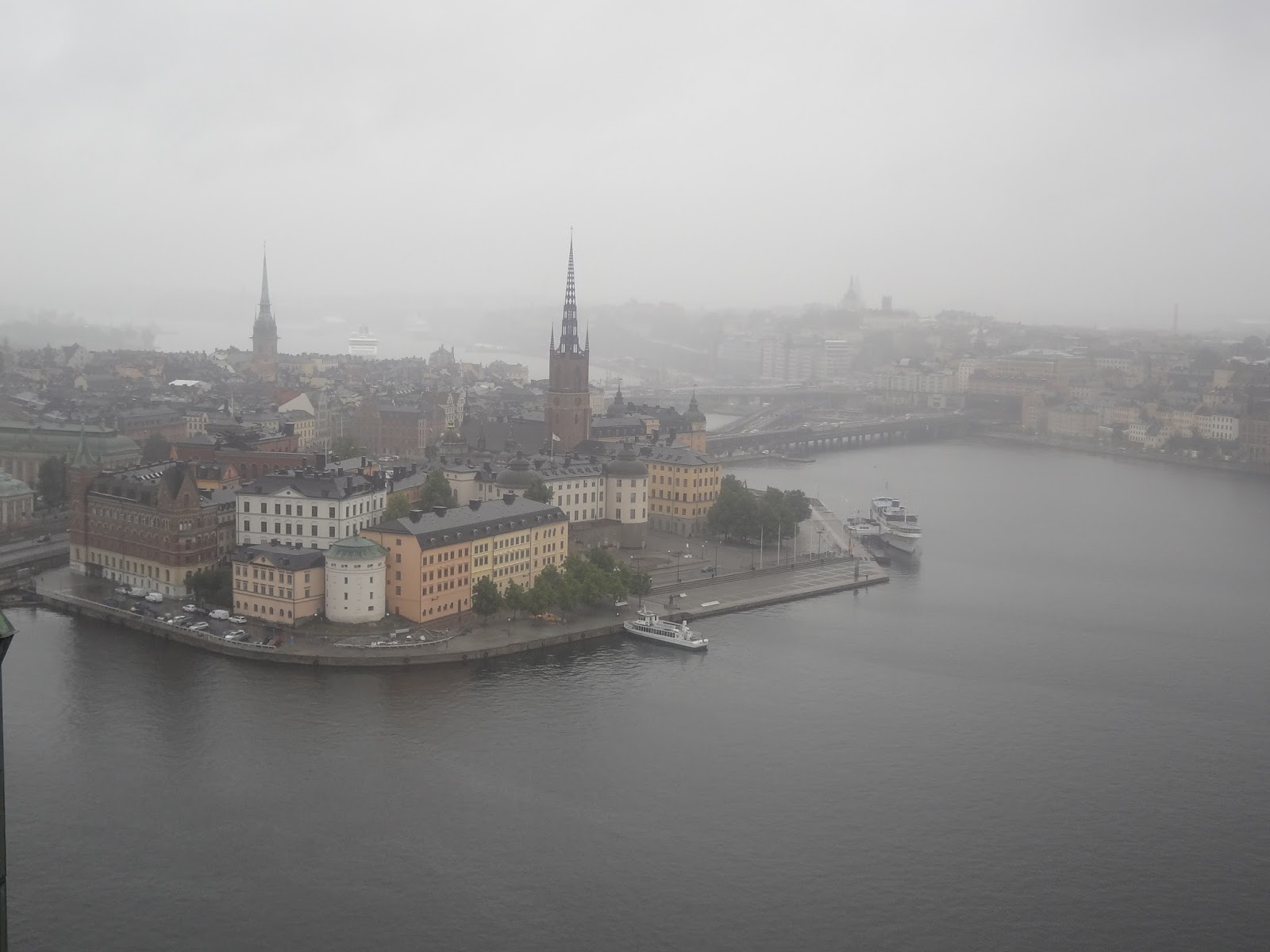 vue du haut de Stadshuset sur stockholm