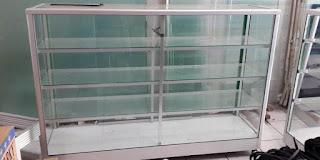 Model Harga Etalase Lemari Kaca Kecil Alumunium Untuk Usaha Kue, Counter Hp, Baju, Dan Toko Sembako 2018