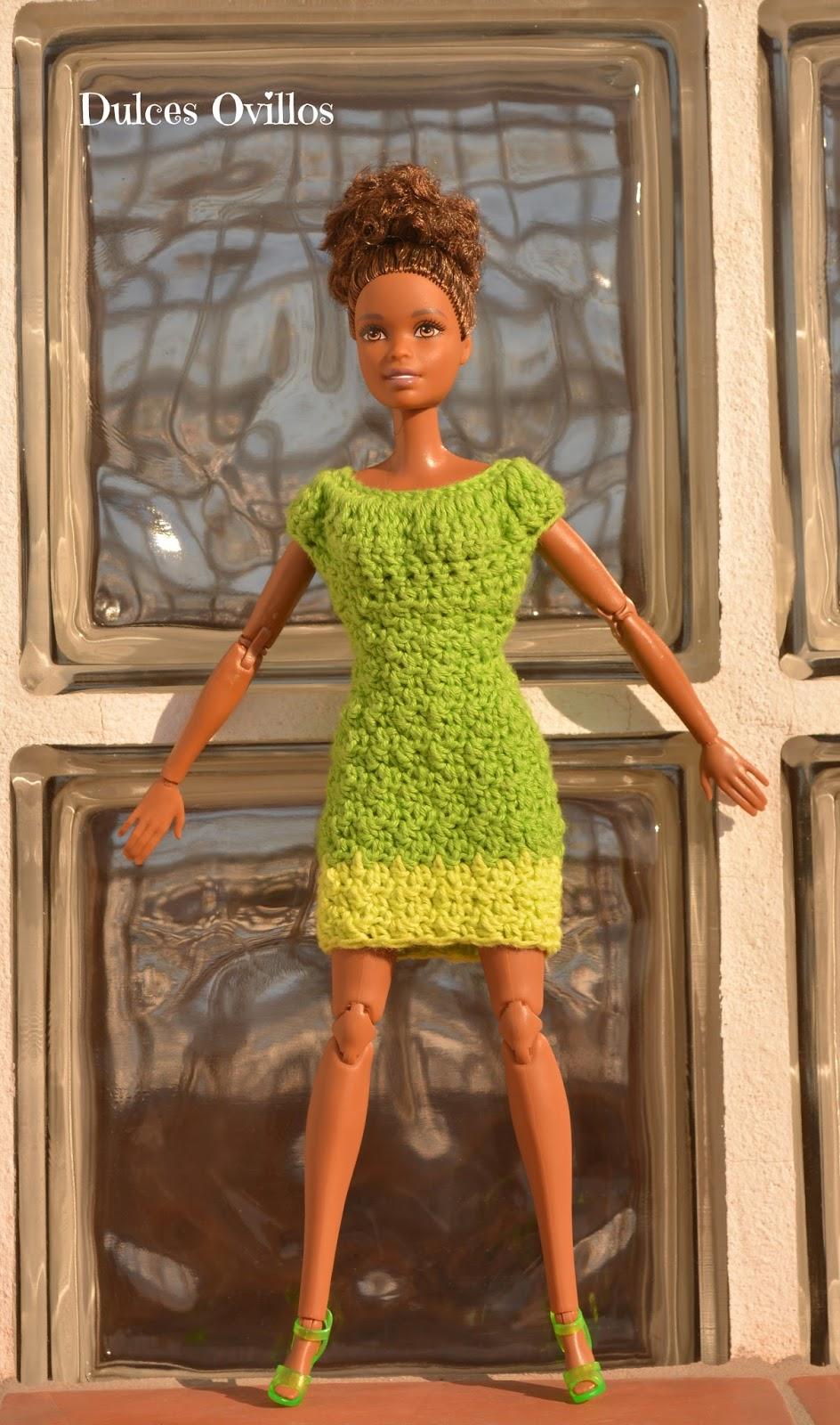 Dulces Ovillos: Vestido a crochet para Barbie - Crochet dress for ...