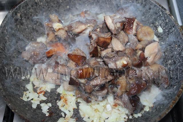 рецепт жареного картофеля с грибами с пошаговыми фото