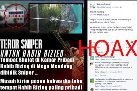 Berita Penembakan Oleh Sniper Di Rumah Rizieq Ternyata Hoax