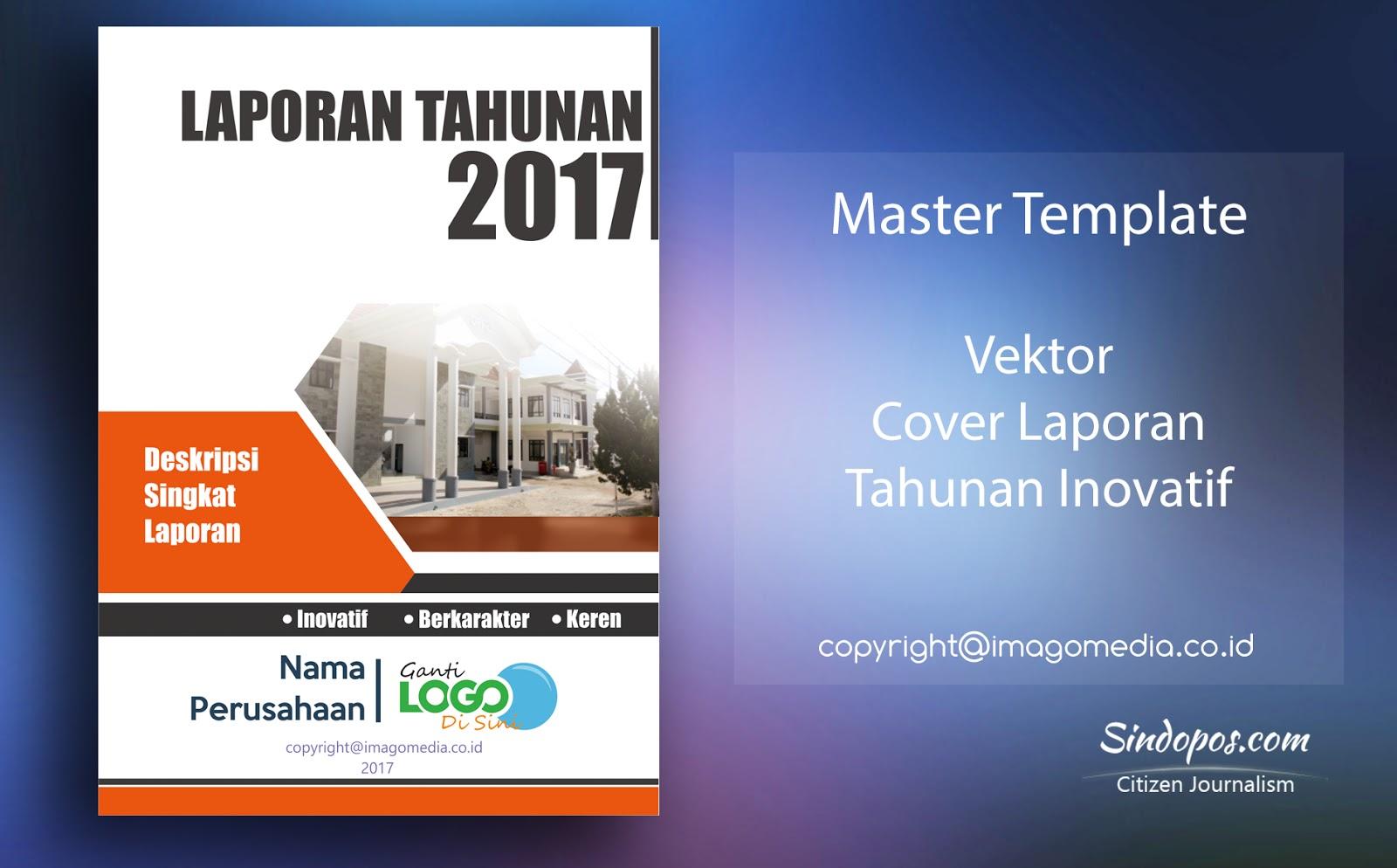 Download Template Desain Cover Laporan Tahunan Inovatif