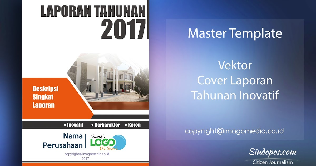 Download Template Desain Cover Laporan Tahunan Inovatif