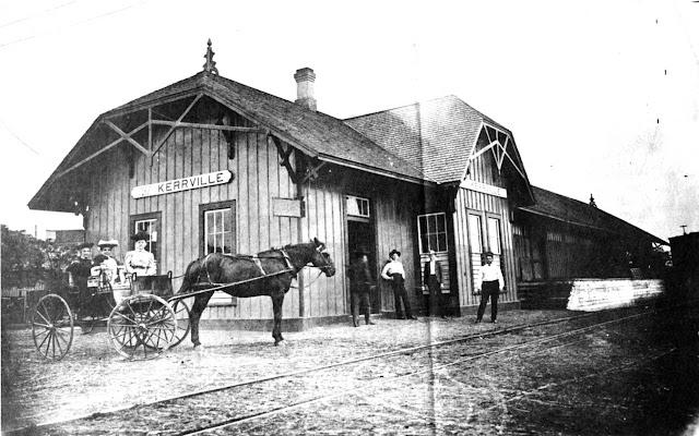 Kerrville depot of San Antonio and Aransas Pass railroad