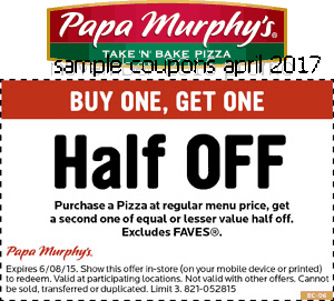 Papa Murphys coupons april 2017