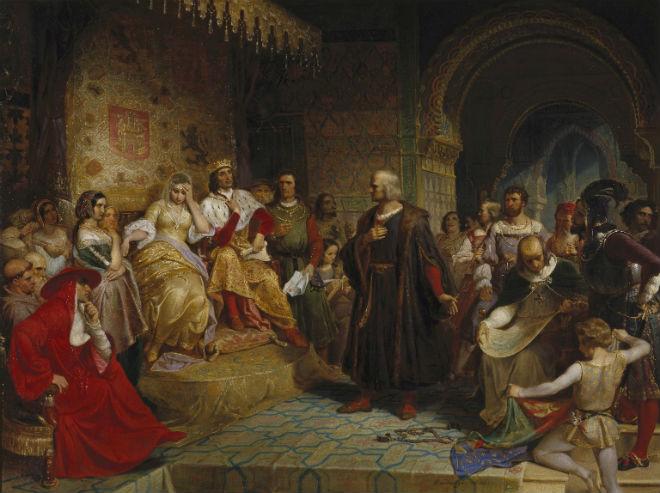 Cristóvão Colombo na pintura ~ Navegador genovês