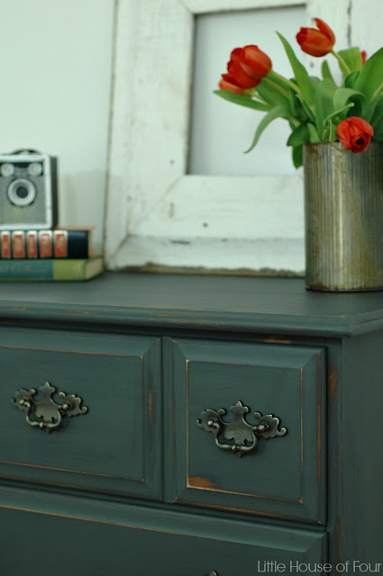 Chalky Finish Dresser Makeover