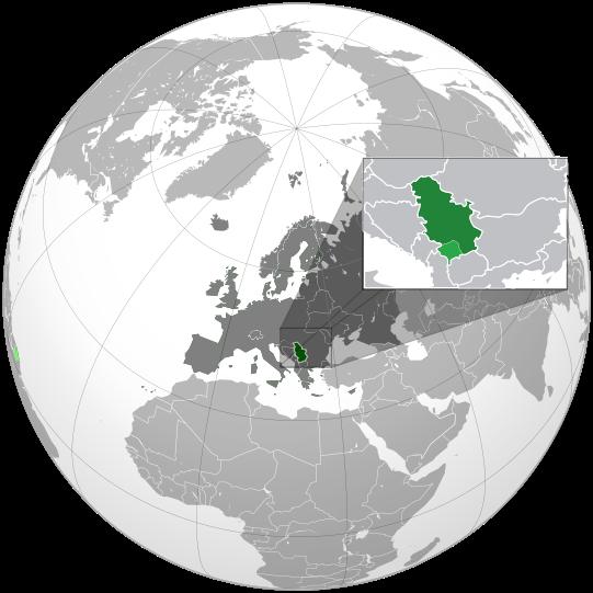Letak negara Serbia