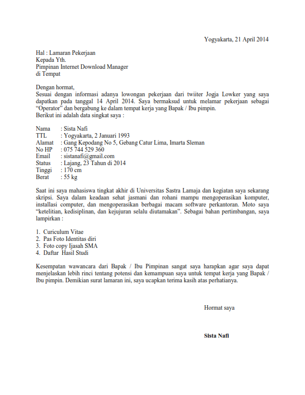 contoh surat pengalaman kerja sebagai bidan cara ku mu