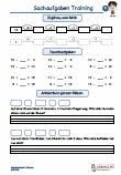 Sachaufgaben-Mathematik-Rechenfertigkeit-Uebungsmaterial-1Klasse
