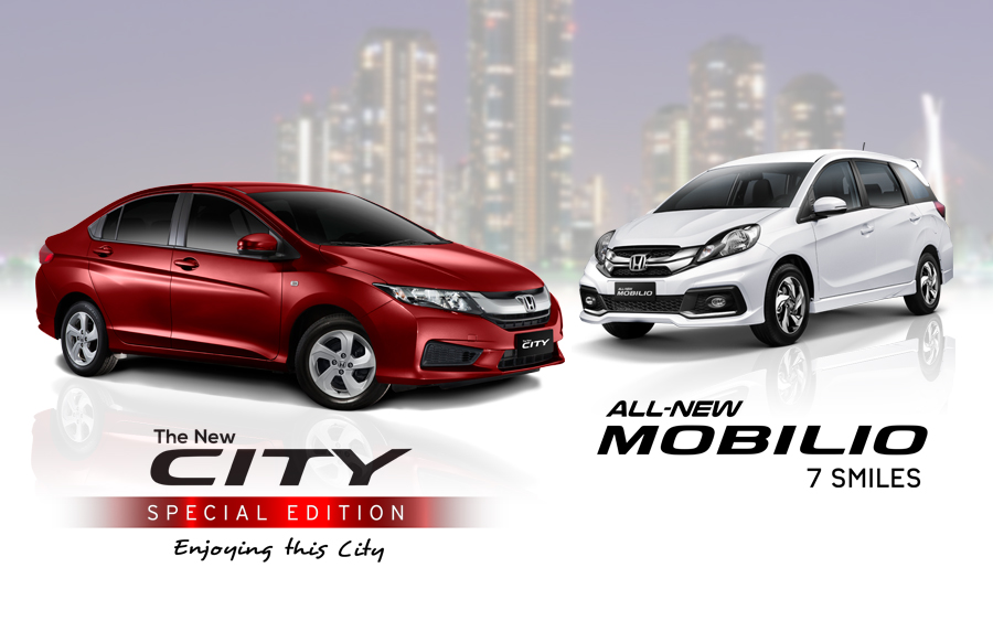 Honda New City 1.5 E CVT Special Edition and All-New Mobilio