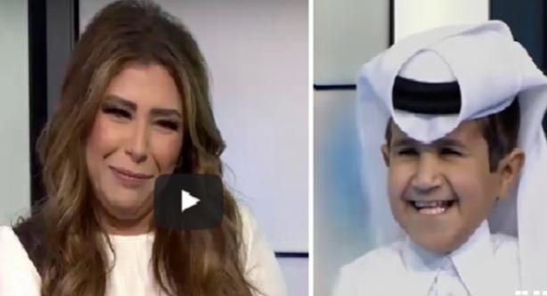 طفل قطري يضع مذيعة 'العربية' في موقف محرج شاهد بالفيديو ماذا حدث