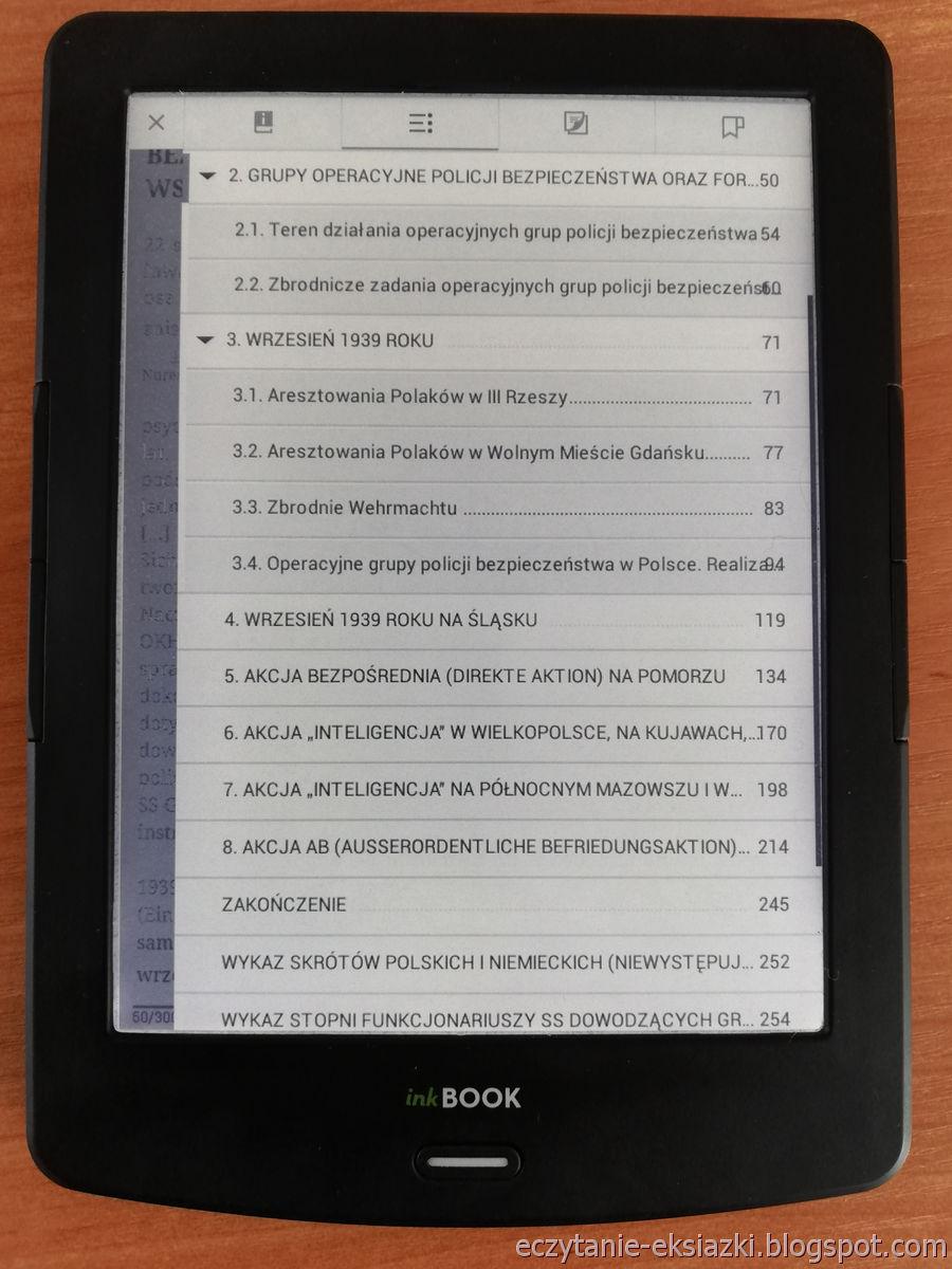 PocketBook Reader na InkBOOK LUMOS – zagnieżdżony spis treści