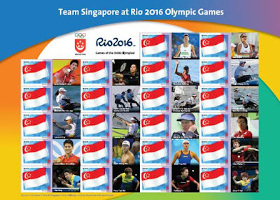 Source: SingPost. Rio 2016 Games of the XXXI Olympiad MyStamp sheet for Team Singapore.