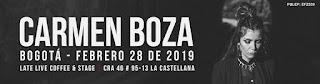 POS Concierto de CARMEN BOZA en Bogotá 2019