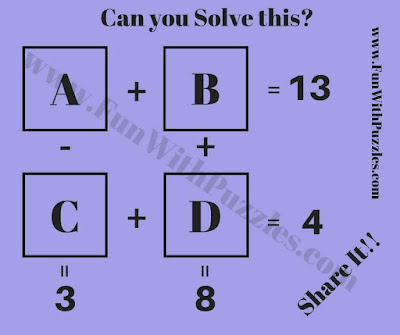 Maths Brain Teaser Worksheet