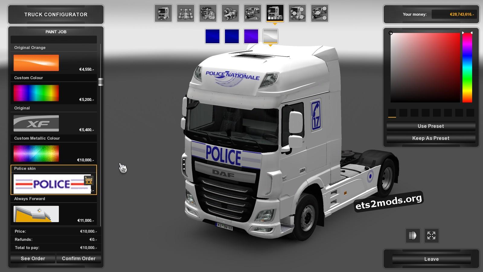 DAF Euro 6 French Police Skin