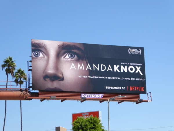 Amanda Knox Netflix documentary billboard