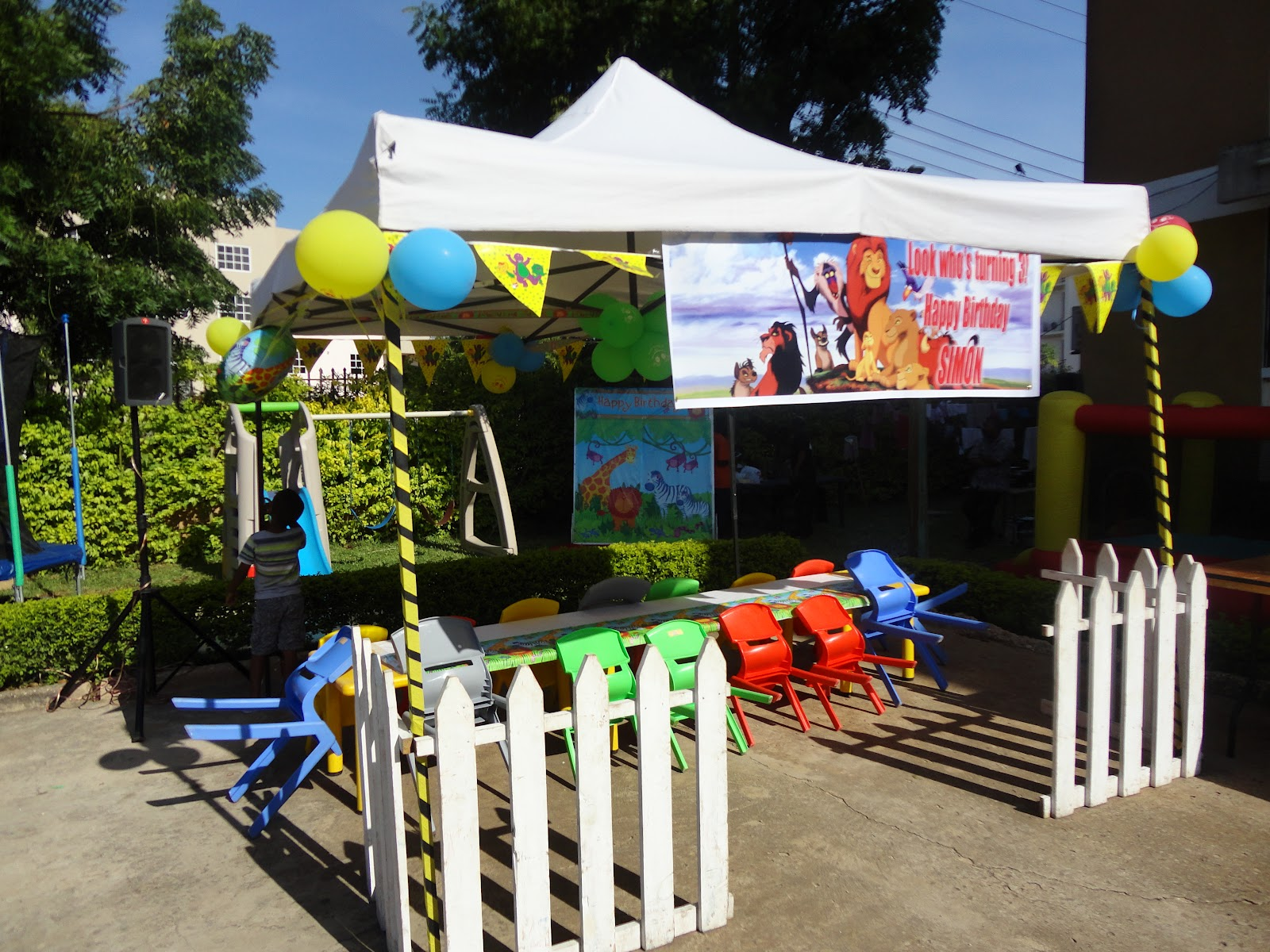 king and queen chairs for rent walmart living room kids events : parties: lion theme befits african child
