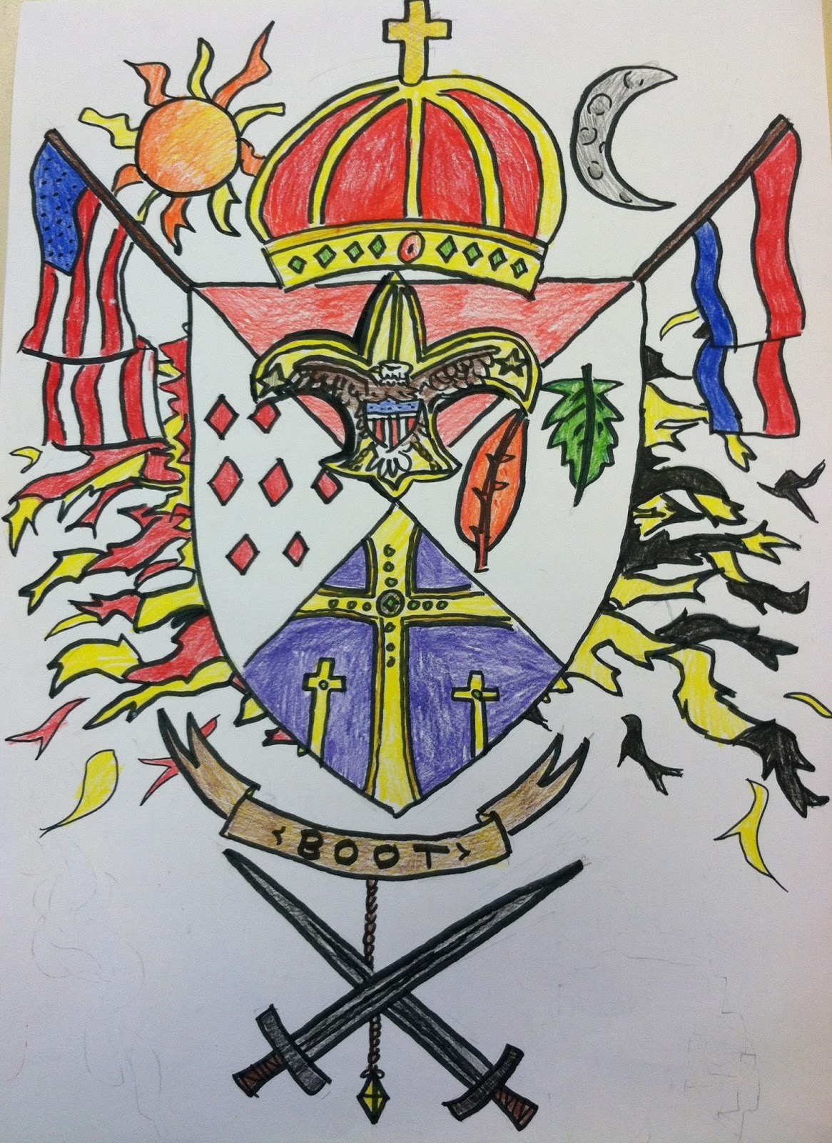 Miss Arty Pants Coat Of Arms