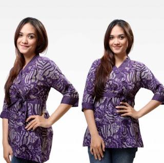 Model gaun batik remaja putri desain lengan panjang