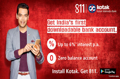 Open saving account with zero balance