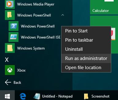 run-windows-powershell-as-administrator-windows-10