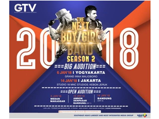 GTV Gelar Next Boy/Girl Band Indonesia Season 2