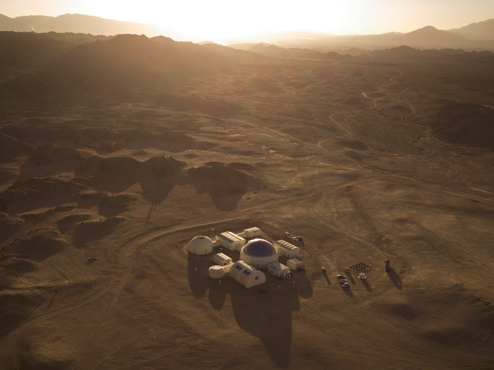 China's C-Space Mars simulation base in Gobi desert (surroundings)