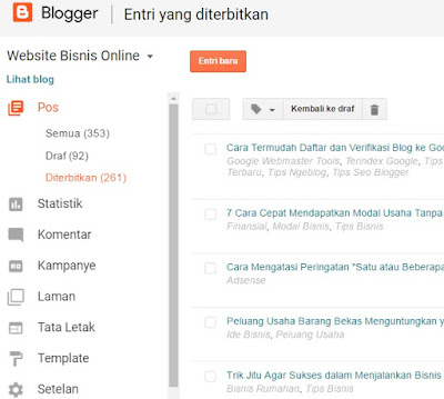 Apa yang harus dilakukan oleh Blogger Pemula terkait Tampilan Dasbor Blogger Versi Terbaru?