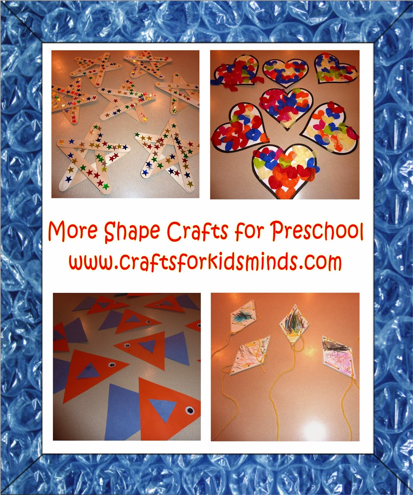 Crafts For Kids Minds More Shape Crafts For Preschoolers